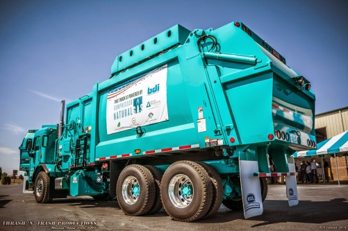 Basin Disposal's (of Washington State) new CNG-powered residential garbage truck